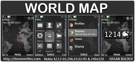 live themes download for nokia x2 world map live theme for nokia x2 00 x2 02 x2 05 x3 00