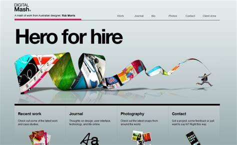 web layout characteristics 10 characteristics of excellent portfolio sites