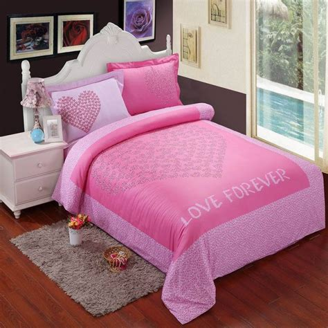 Pink Leopard Print Hearts Bedding Set King Size Doona Pink Cheetah Print Bed Set