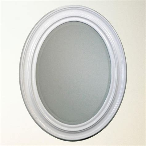 Oval Mirror Bathroom White Oval Bathroom Mirror Bathroom Mirrors Pinterest