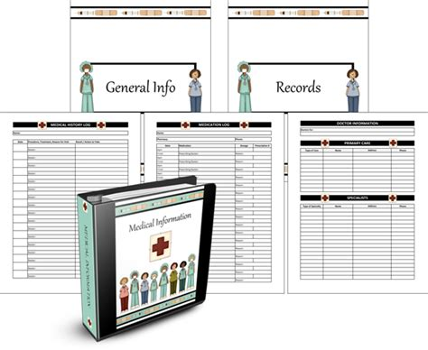 medical planner record keeping notebook