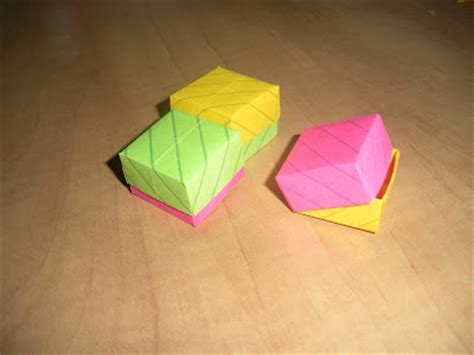 Post It Note Origami - paper pins origami with post it notes