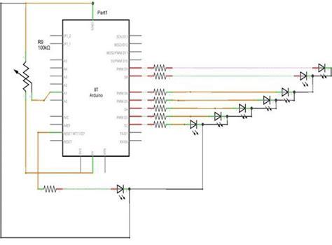 led bar graph resistors arduino led bar graph