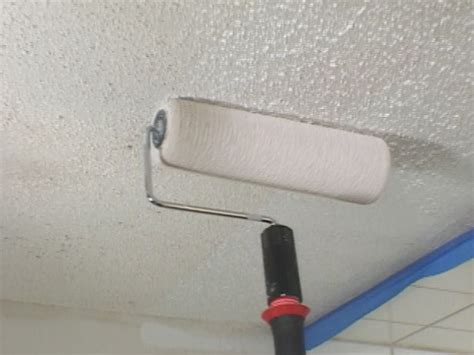 Popcorn Ceiling Paint Roller by Painting A Popcorn Ceiling How Tos Diy