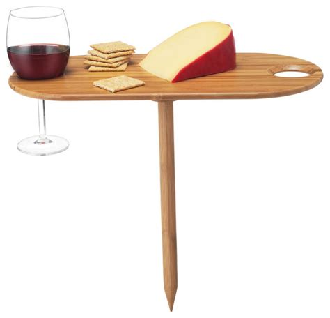 outdoor wine glass holder table bamboo wine glass holder outdoor tray serving dishes