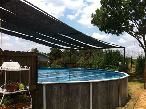 Pool Canopy Above Ground Pool Shade Outdoorsy Stuff I