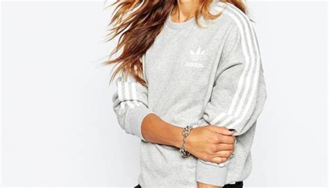 Oneck Stripes Grey sweater adidas adidas sweater 3 stripes grey white