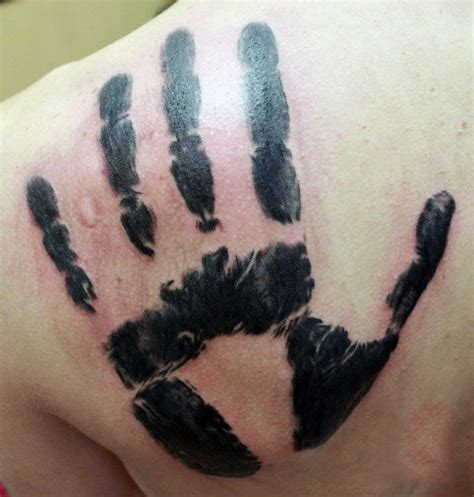 handprint tattoos 60 handprint designs for impression ink ideas