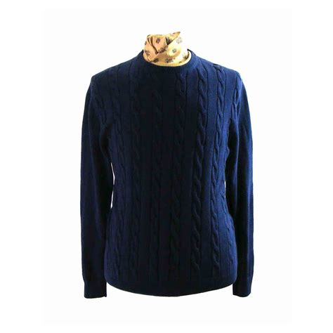 womens navy blue cable knit sweater navy blue cotton cable knit sweater l blue 17 vintage