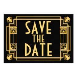 gatsby save the date invitations amp announcements zazzle