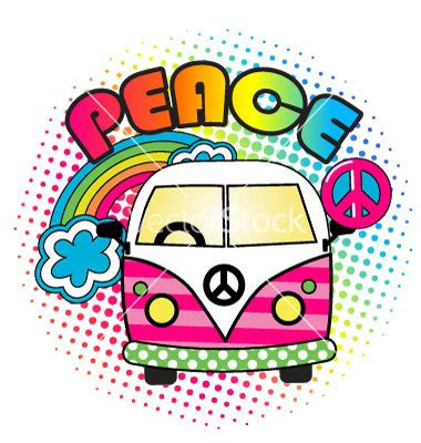 imagenes hippies vector hippie van clipart