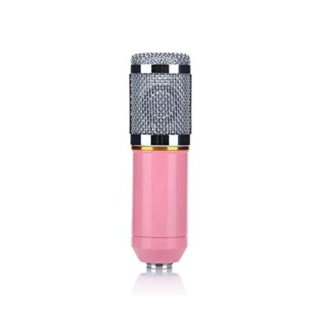 capacitor microphone ppt recording microphone professional condenser mic with shock mount and anti wind foam cap for ham