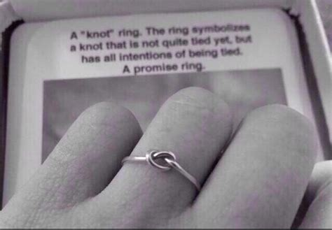 knot promise ring goin to the chapel