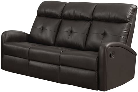 dark brown leather reclining sofa 88br 3 dark brown bonded leather reclining sofa from