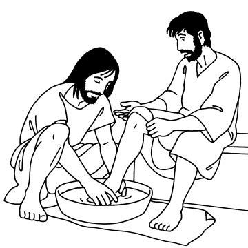 coloring pages jesus washes his disciples coloriage paroisse catholique de genis laval