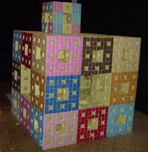 Origami Menger Sponge - mathematics origami