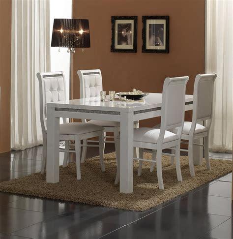 Chaise de salle à manger blanche (lot de 2) Perla   Chaise