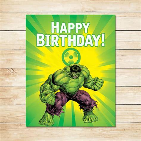 printable hulk banner items similar to printable hulk radiation birthday sign