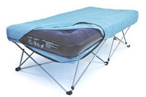 great guest air bed mattress on stand with legs on steel frame portable cot