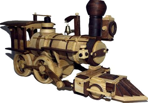 wooden train model pure handmade work    shop