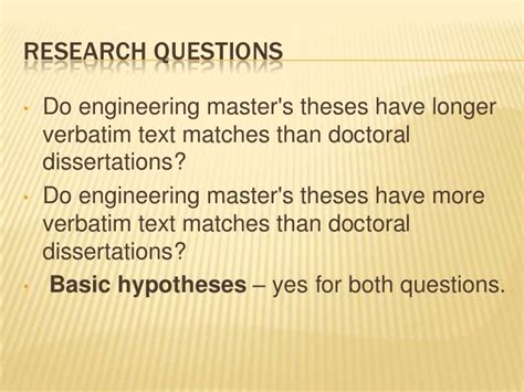 dissertations and theses text source text re use in engineering master s theses and