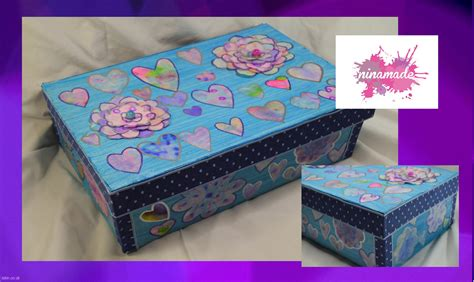diy caja de zapatos decorada decorated shoebox - Decorar Cajas De Zapatos