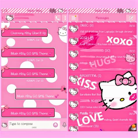 go sms themes hello kitty black pretty droid themes