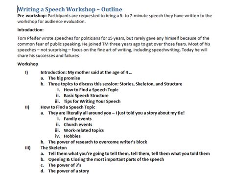 Keyword Outline Sle by Outline For A Speech Gse Bookbinder Co