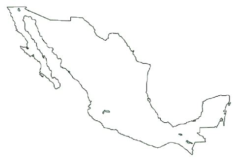 coloring page mexico map map of mexico terrain area and outline maps of mexico