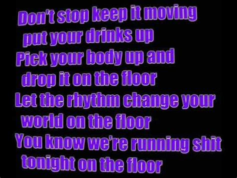 Get The Floor Lyrics by Feat Pitbull On The Floor Lyrics