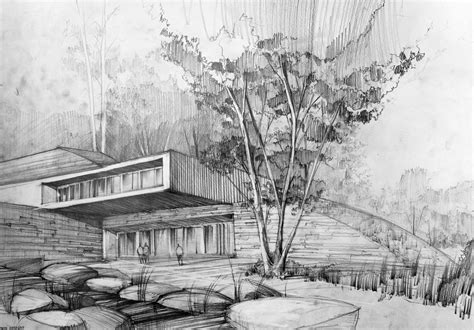 architecture drawing modern architecture sketches artur st苹pniak gallery