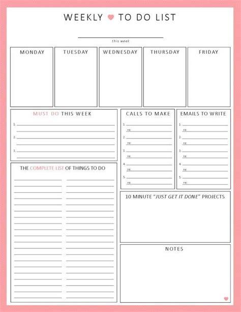 printable to do list week best 25 week planner ideas on pinterest weekly planner