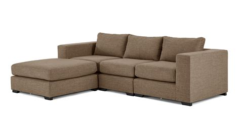 Corner Sofa Modular by Mortimer 4 Seat Modular Corner Sofa Caramel Beige Made