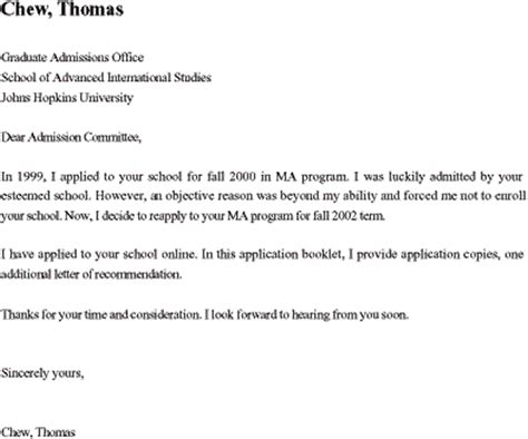 re application letter sle for sle cover letter graduate school 25 cover letter