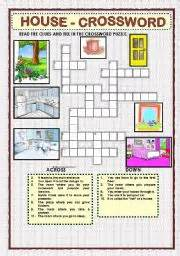 home crossword worksheet house crossword