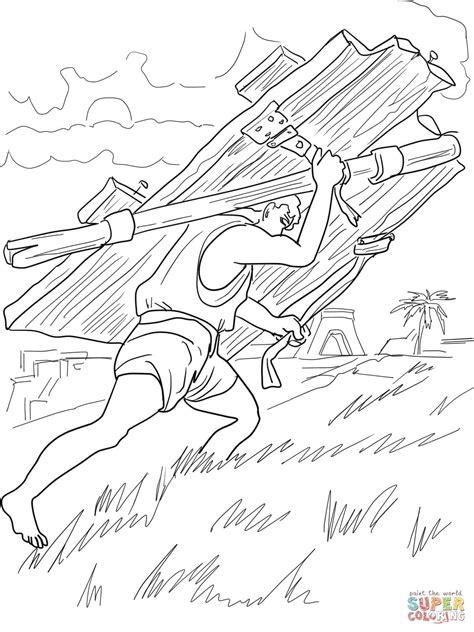 samson and delilah coloring pages coloring home