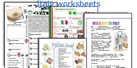 Italian Worksheets by Free Italian Worksheets For Primary School Around The