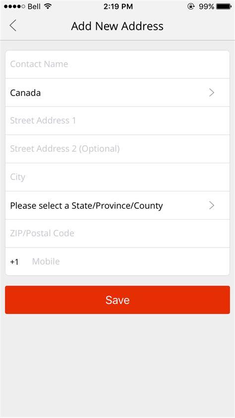 aliexpress zip code e commerce improve standard shipping form layout user