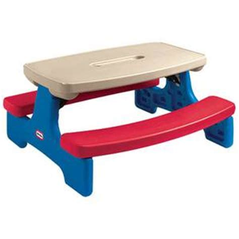 little tikes picnic bench little tikes easy store picnic table bench children step2