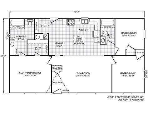 fleetwood mobile home plans eagle 28483s fleetwood homes