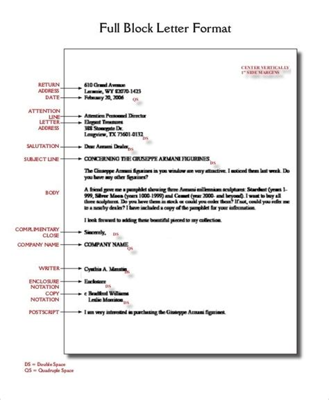 spacing in business letter business letter format spacing world of exle