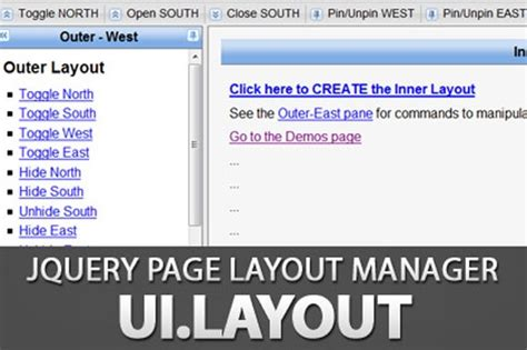 jquery layout ui demo jquery ui layout panels