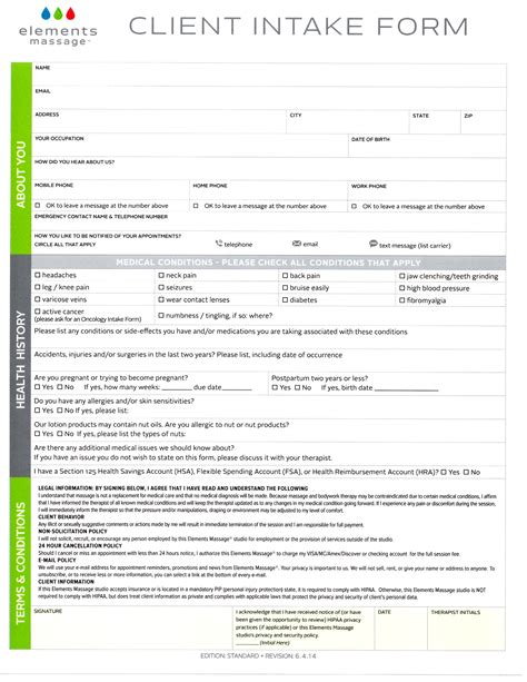 customer intake form template intake form wresting