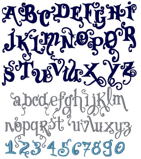 curly pattern font graveyard curl font embroidery font annthegran