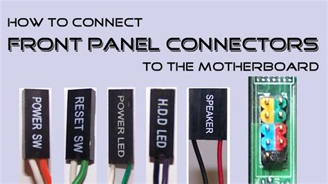Kabel Cable Tombol Power Switch Front Panel Led Button Komputer Cpu Pc how to connect front panel connectors to the motherboard