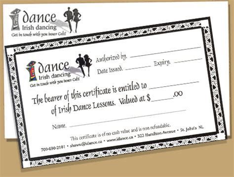 black and white gift certificate template free elegant this