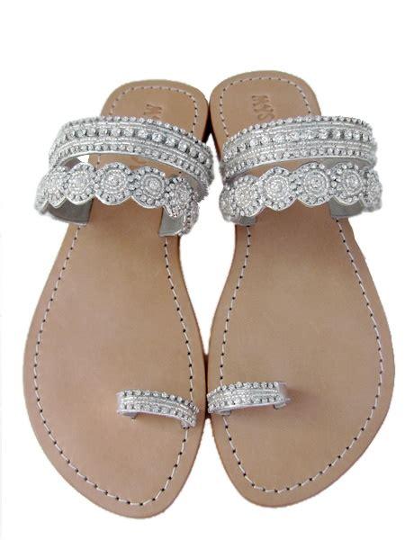 silver beaded sandals pin by c dirina on flip flops