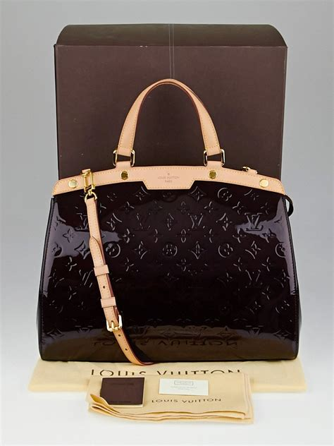 louis vuitton amarante monogram vernis brea gm bag yoogi