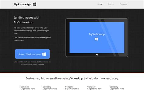 bootstrap themes landing page mysurfaceapp landing page landing pages