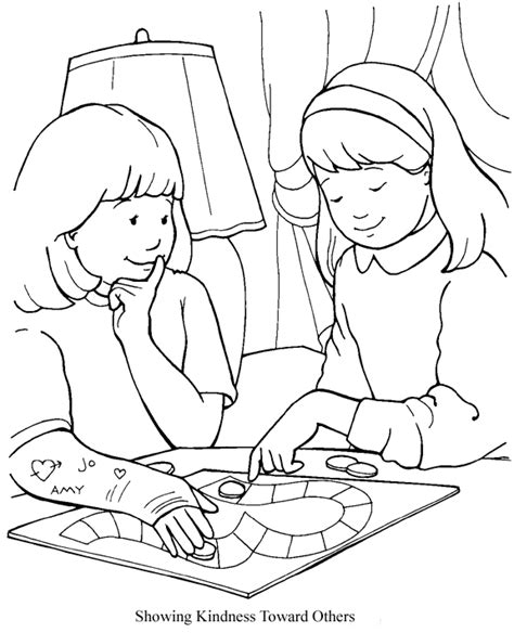showing affection coloring sheet showing kindness toward others
